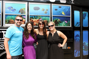 The RIC Team in front of the Cowfish bus.