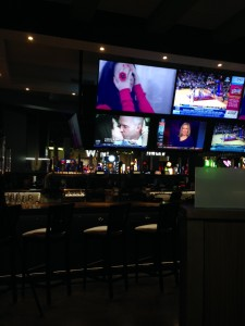 Bar area with TVs