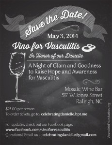 Vino for Vasculitis Flier